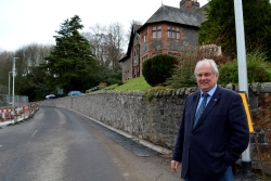 Yarrow Terrace will return to a two-way road after repairs to the Glen Hotel wall were completed ahead of schedule.