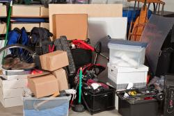 belongings in a storage facility
