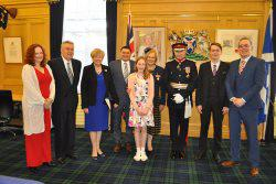 Group of people with Lord-Lieutenant of Roxburgh