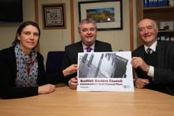 Cllrs Catriona Bhatia, John Mitchell, David Parker with SBC Budget plans