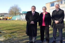 David Parker, Frances Renton, Nile Istephan at Earlston housing site