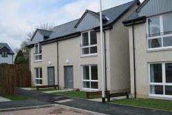 New housing development of semi-detached homes in Denholm