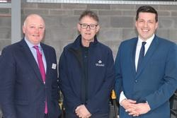 Councillor Mark Rowley, David Gracie of Winstal Ltd and Jamie Hepburn, Minister for Business, Fair Work and Skills