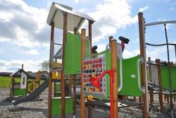 Climbing frame in children's play park area