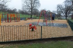 Children's play park with playground equipment