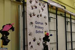 Banner with words Gordon Primary School across it