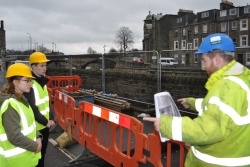 A section of a Hawick road closed for essential flood protection scheme works will reopen at 12noon on Saturday 11 February, four days ahead of schedule.