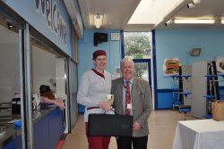 Tracey Biggs receiving Scottish School Cook of the year award