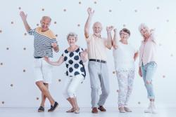 Older people in funny poses