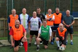 Walking football team photo