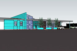 Architect's drawing of Earlston additional support needs provision
