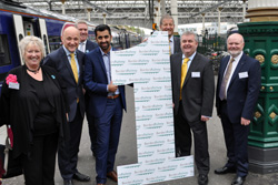 Celebration of Borders Railway one year anniversary.