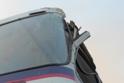 Damaged bus