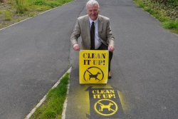 David Paterson dog fouling stencil