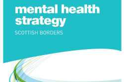 Front cover of strategy document with turquoise colors