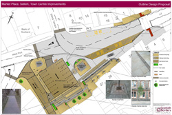 Plan of what is proposed in Selkirk town centre as part of streetscape works